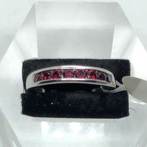 Genuine Anthill Garnet Band Ring